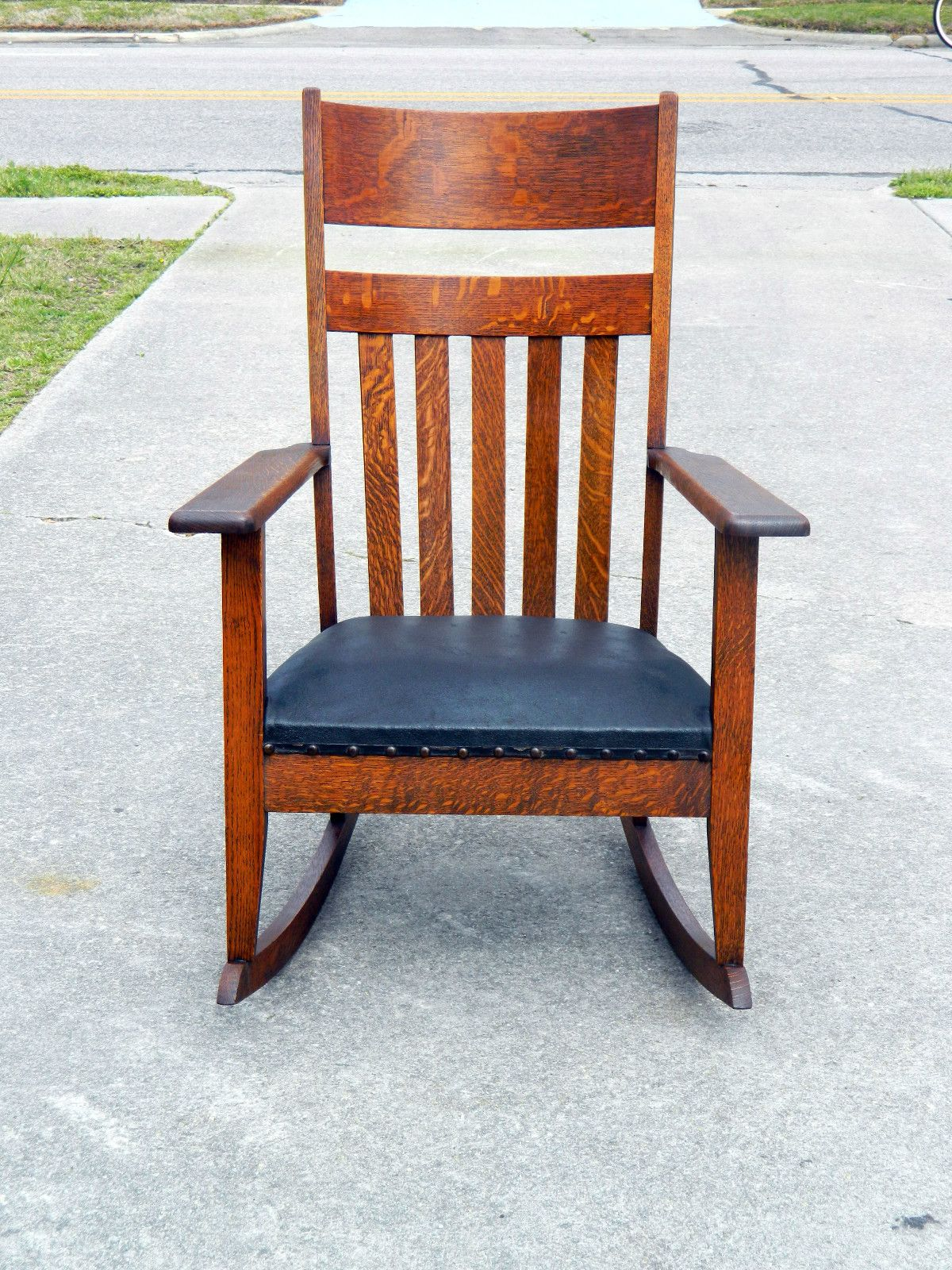 Mission Style Recliner Chair Arts And Crafts Mission Tiger Oak Rocker Circa 1900 Arts
