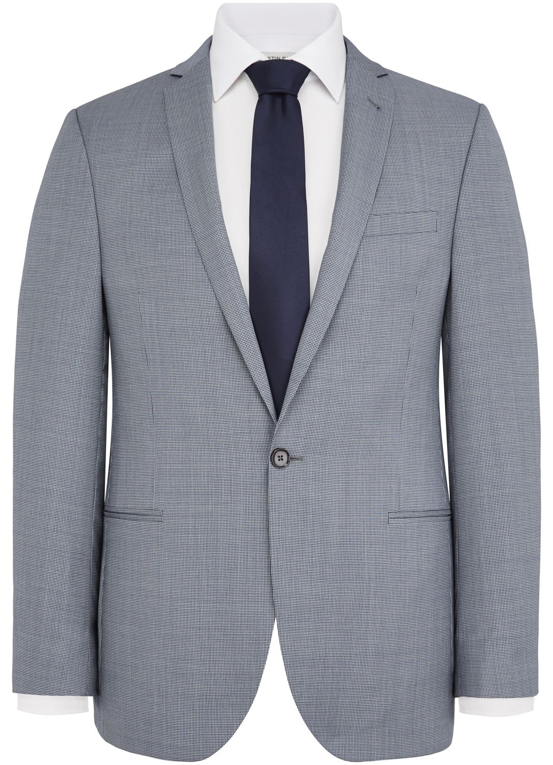 RED Slim Fit Navy Puppytooth Jacket - All Suits > - Austin Reed
