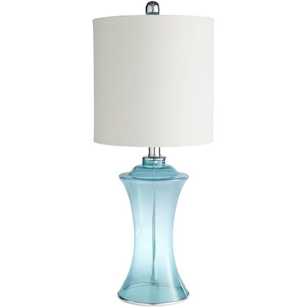 Pier 1 Imports Turquoise Sea Glass Lamp ($50) ❤ Liked On Polyvore Featuring  Home