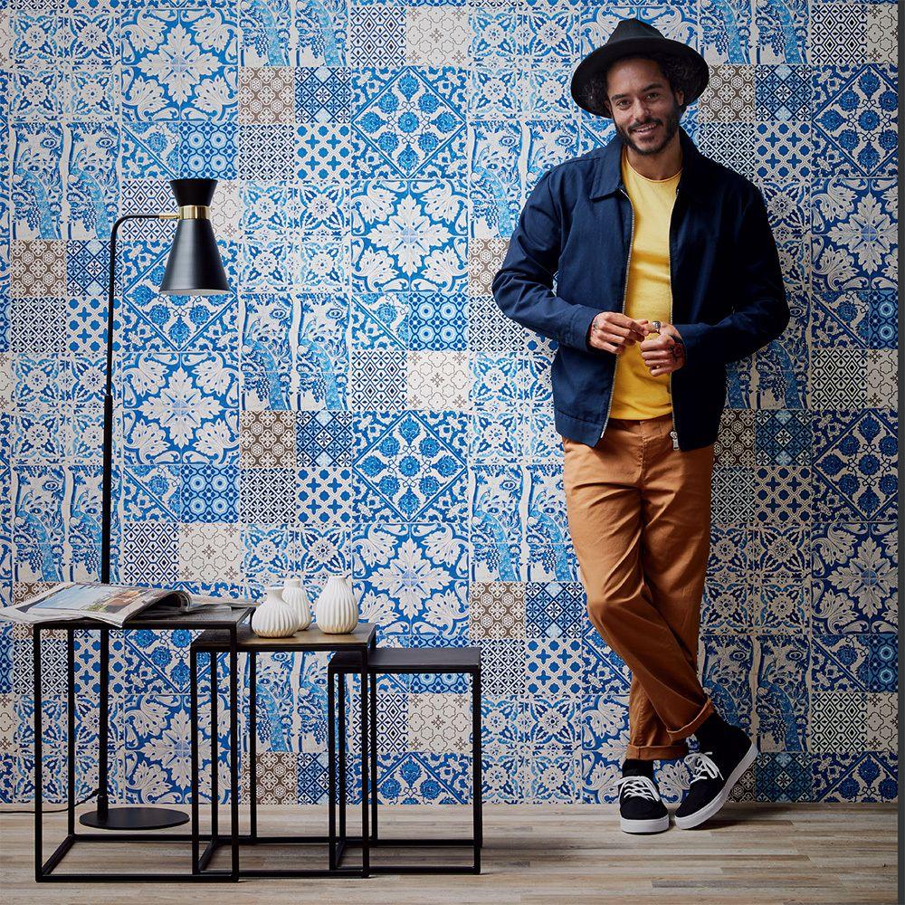 Dutch Tile Blue Dutch Tiles Blue Wallpapers Wallpaper Direct