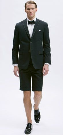 Found my tuxedo...but with flip flops, not shoes.