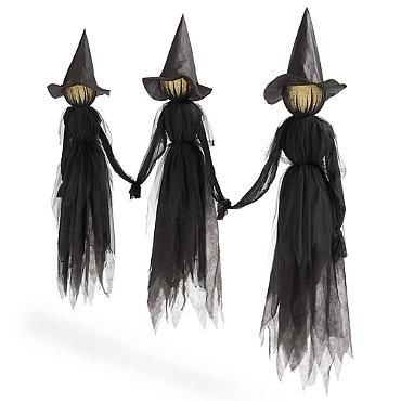 Outdoor Halloween · Holding Hands Witches, Set Of Three