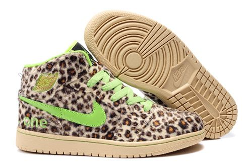 To Buy Air Jordan 1 I Leopard Mens shoes Fur Inside For Winter Online Cheap Green Brown
