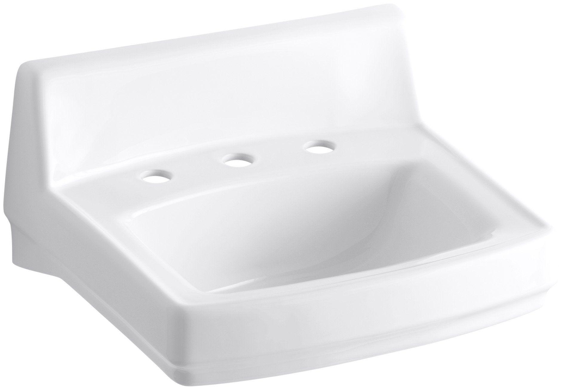 lowest price ever popular online shop KOHLER K-2030-0 Greenwich Wall-Mount Bathroom Sink, White ...