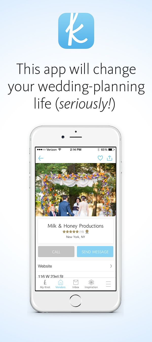 We promise, this app will change your wedding-planning life! Let us do the work for you!