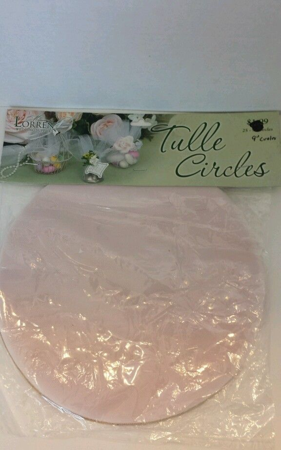 Tulle Net Rehearsal Craft Favors 9 in Circles Wedding Supplies gifts  #Lorren