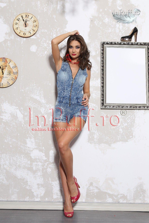 cel mai bun pret preț atractiv cel mai bun loc salopeta scurta eleganta de blugi | salopete dama | Rochii ...