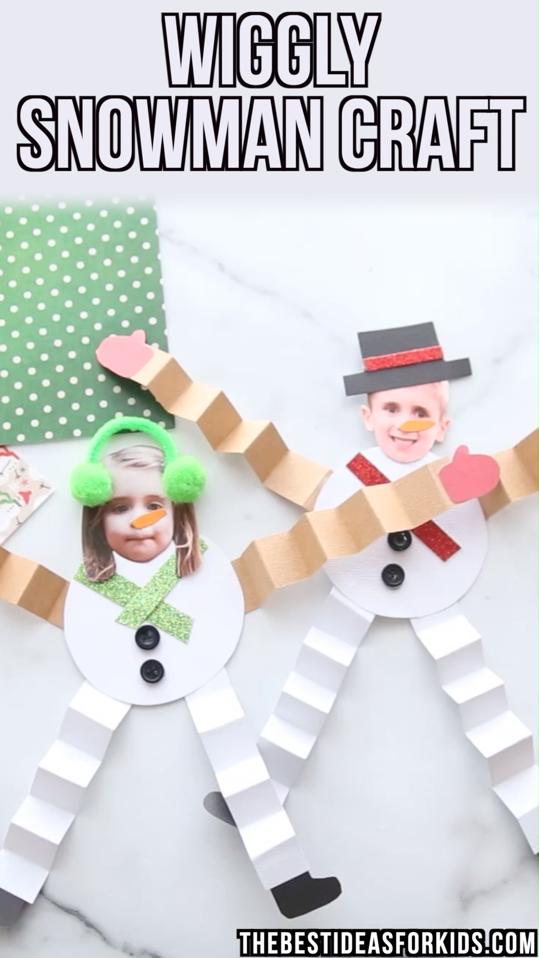 SNOWMAN CRAFT - cute snowman craft for kids with free printable template!