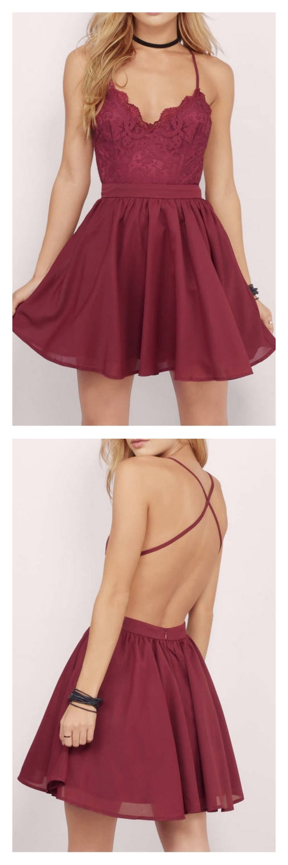 homecoming dresses 2017, backless homecoming dresses, cross back homecoming dresses, short mini homecoming dresses, burgundy homecoming dresses,lace homecoming dresses, cute graduation dresses, cocktail dresses, party dresses #homecomingdresses #SIMIBridal #backlesscocktaildress