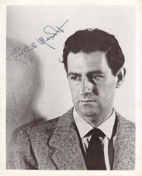 Italian-American composer and librettist (1911-2007), creator of operas such as The Saint of Bleecker Street and The Consul. Signed photo, 8 x 10 inches, in excellent condition
