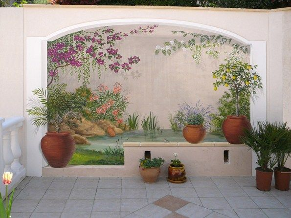 en el patio jardin pinterest images trompe et murale. Black Bedroom Furniture Sets. Home Design Ideas