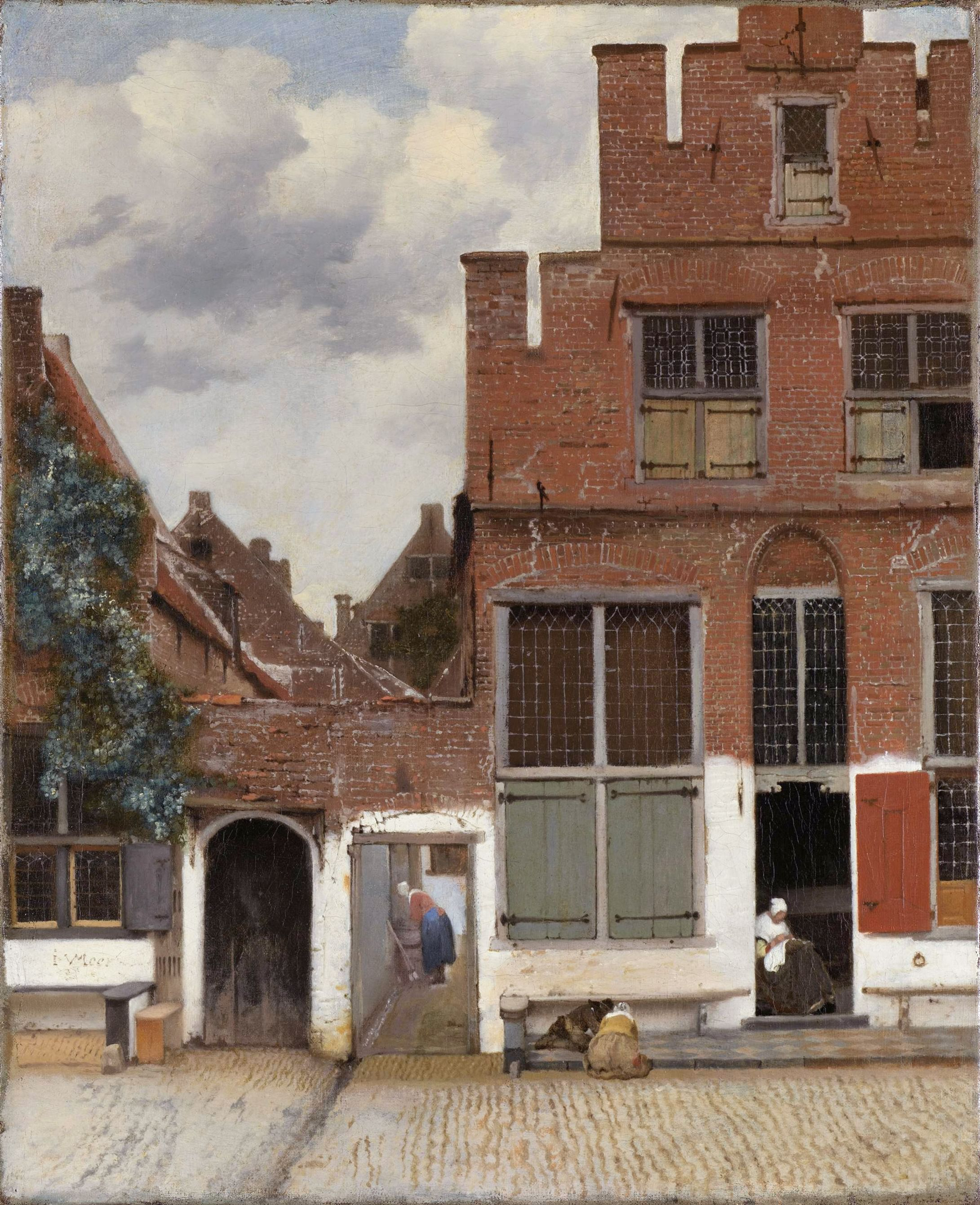 Jan Vermeer van Delft- La Callejuela (Het Straatje)  realizado entre 1657 y 1658.