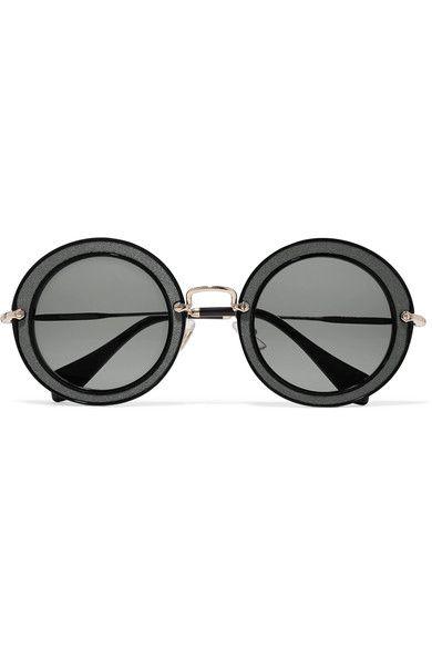 39144d3b3e33 MIU MIU . #miumiu #sunglasses | Miu Miu | Round frame sunglasses ...