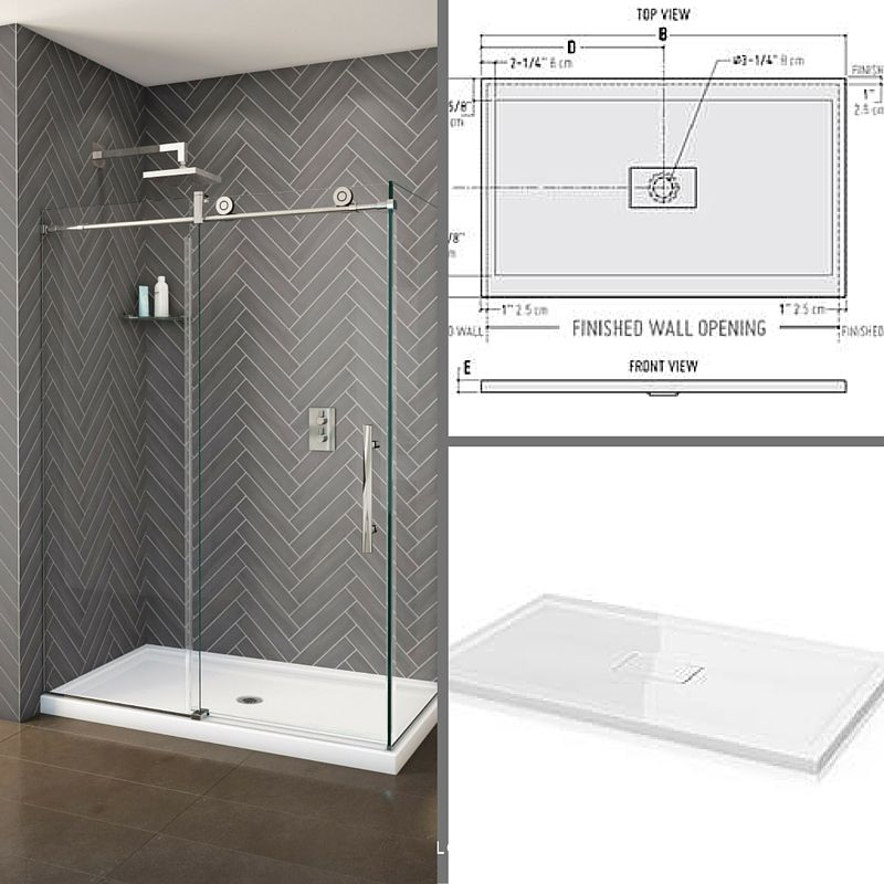 Make Your Stand Up Shower Simple And Modern With Our Concealed Quad Center Drain The Drain Is Hidden For A Shower Remodel Small Remodel Bathroom Renovations