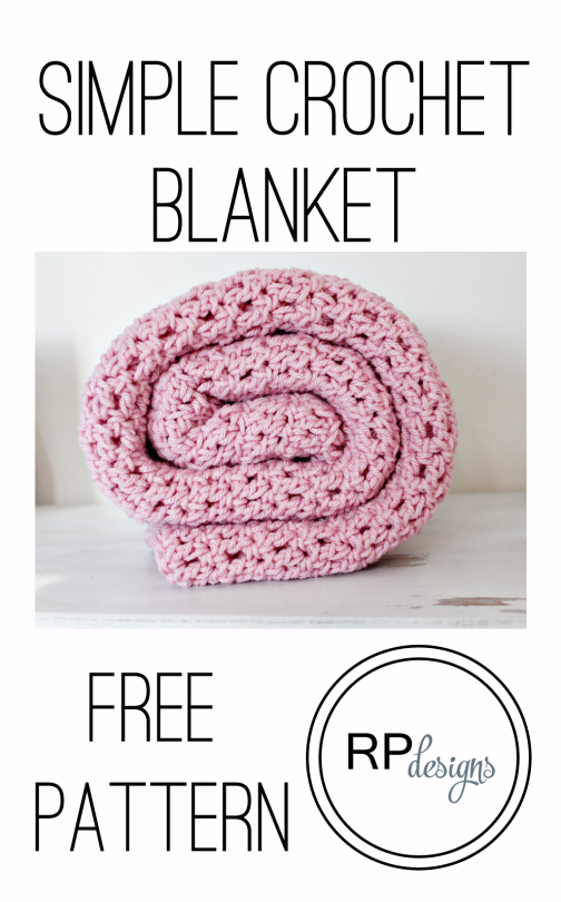 Simple Crochet Blanket Pattern From Rescued Paw Designs | Diseño ...