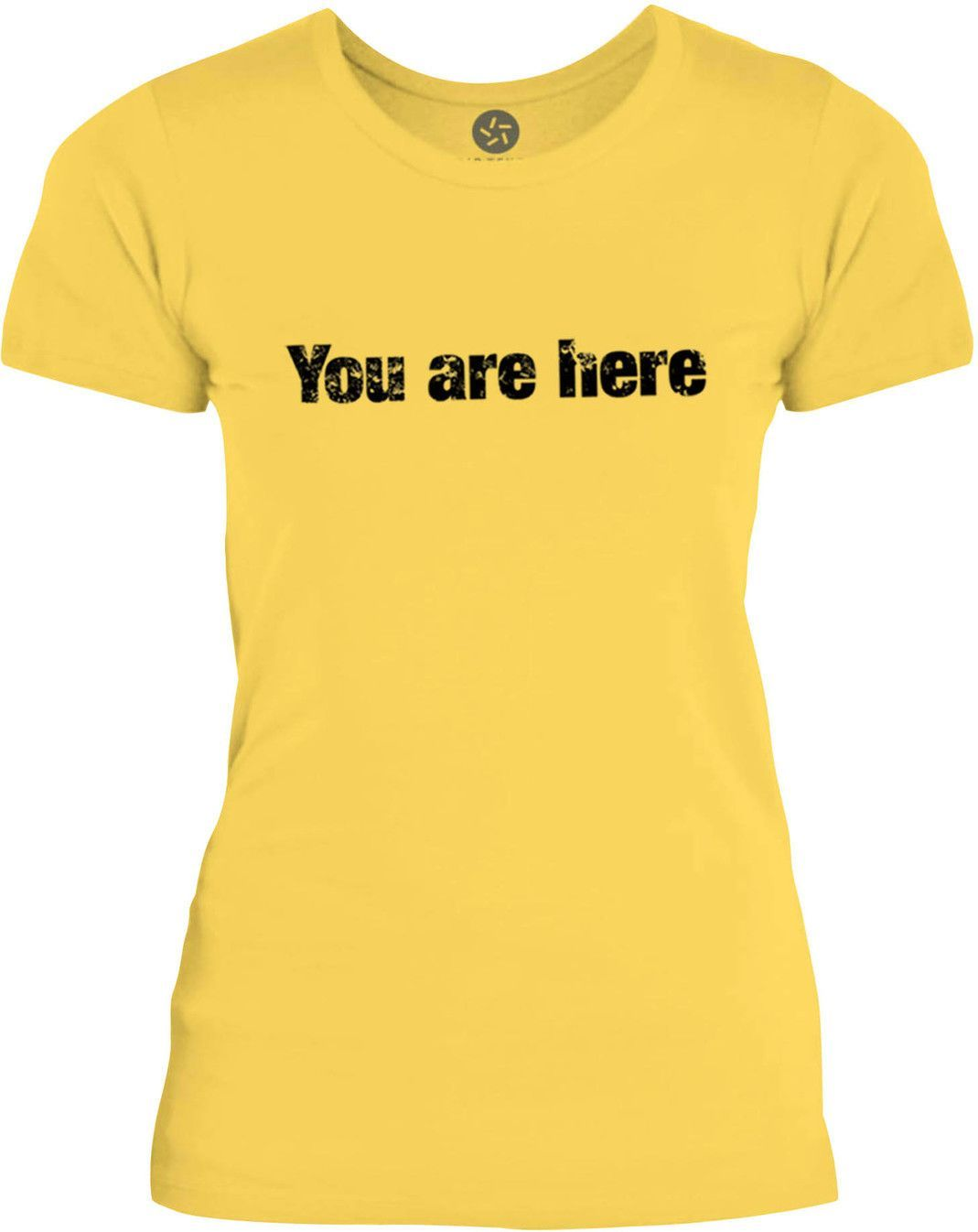 Big Texas You are Here (Black) Womens Fine Jersey T-Shirt