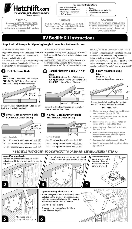 Hatchlift Bedlift Kits Bedlift Kits installation