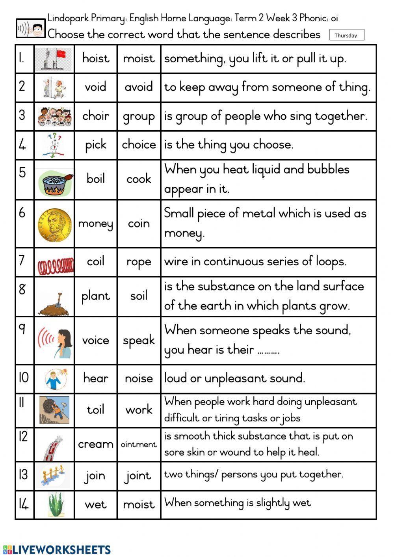 hight resolution of Phonics Worksheets Grade 4 Grade 3 English Hl Term 2 Week 3 Phonic Oi Worksheet  4   Phonics worksheets
