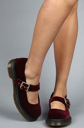 Crush Red Velvet Mary Janes by Dr. Martens. She will have them as soon as I can find them.