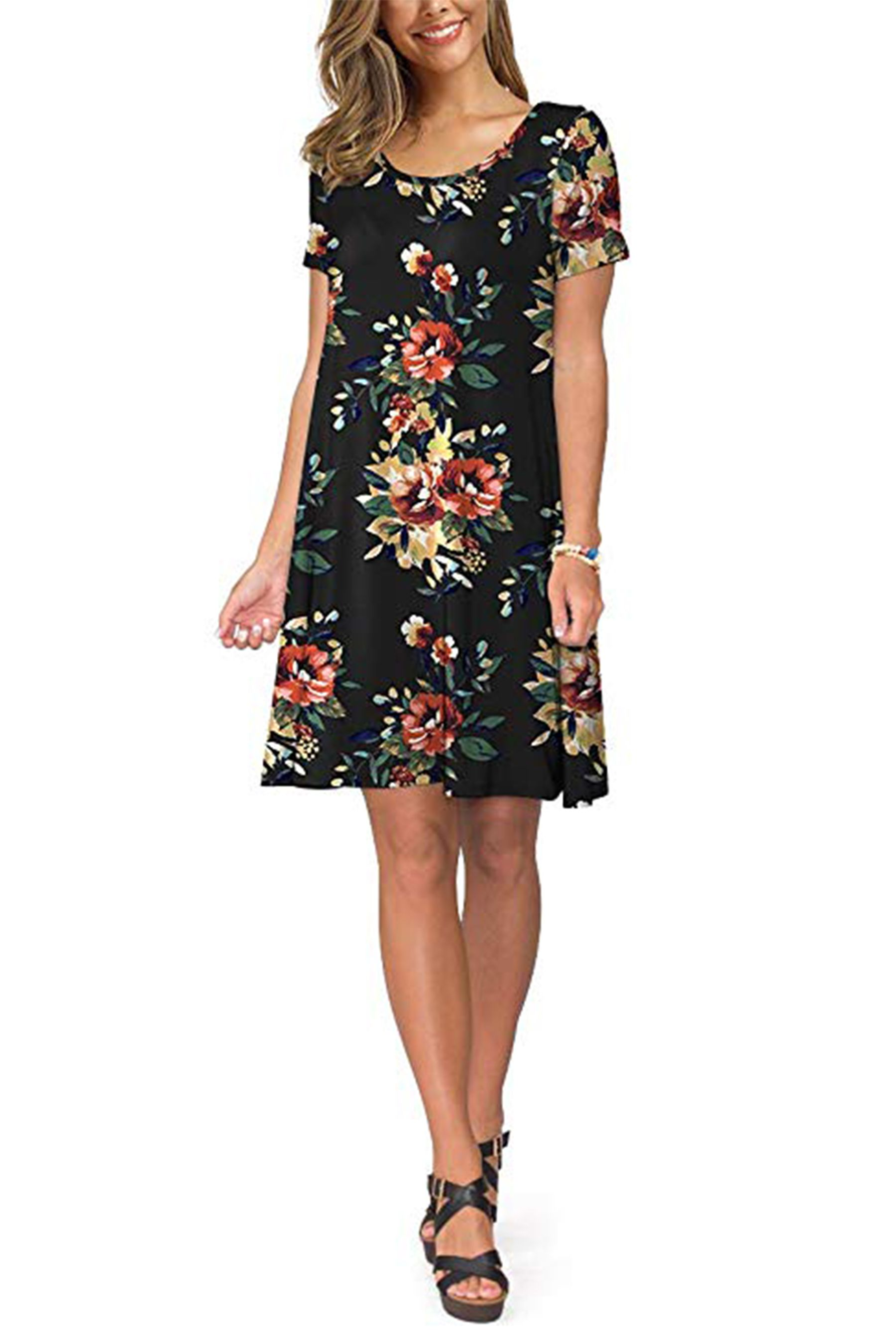 10 Best Selling Dresses That Amazon Shoppers Can T Stop Buying All Under 40 Summer Dresses For Women Sleeved Swing Dress Casual Short Sleeve Dress [ 2700 x 1800 Pixel ]