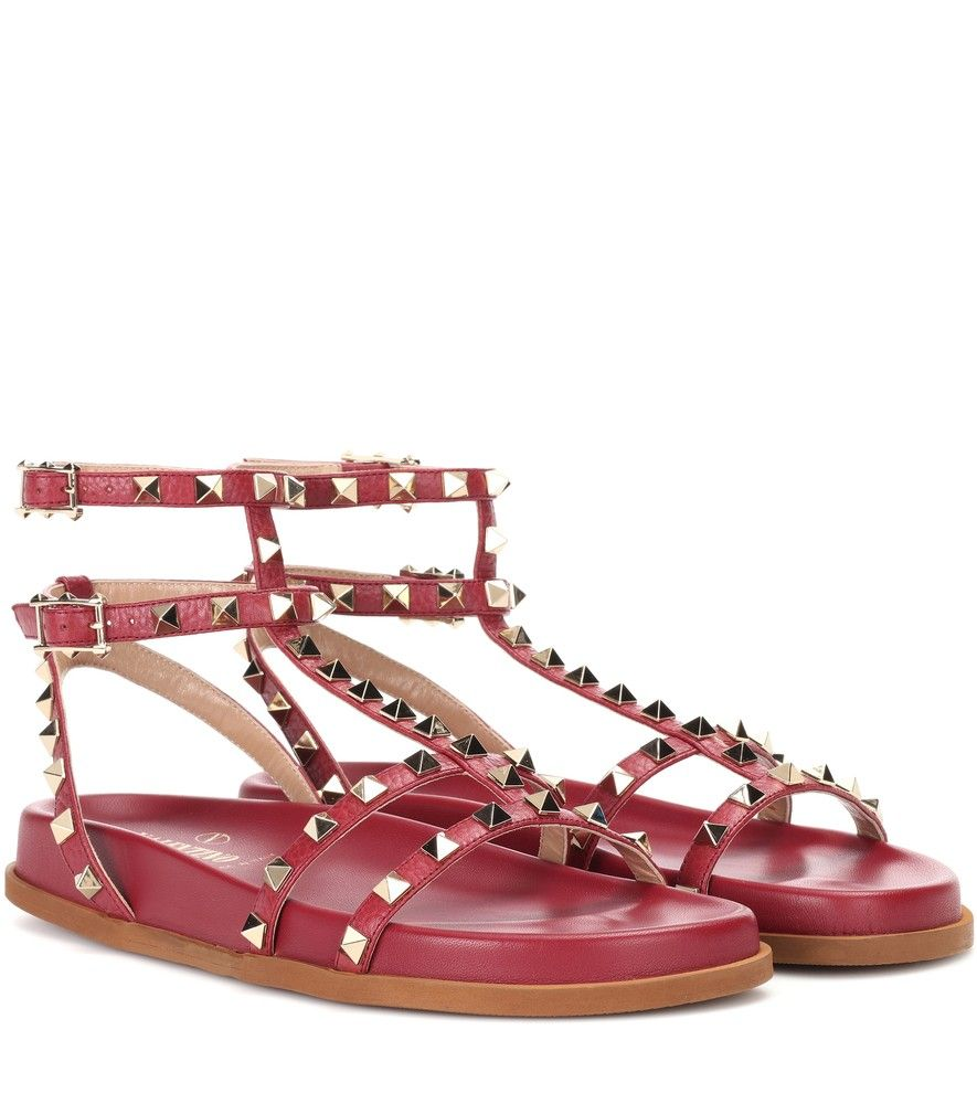 476de83c72e7 Valentino - Valentino Garavani Rockstud leather sandals - Make a glamorous  statement in these Valentino Garavani