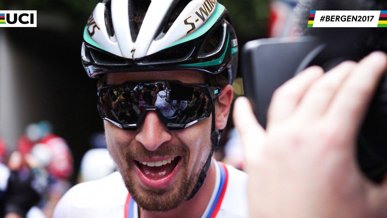 Sagan Makes History With Third Consecutive World Championships Victory