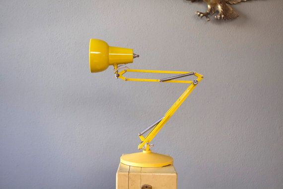 Yellow Architect's Lamp Adjustable Table Top Task by ...