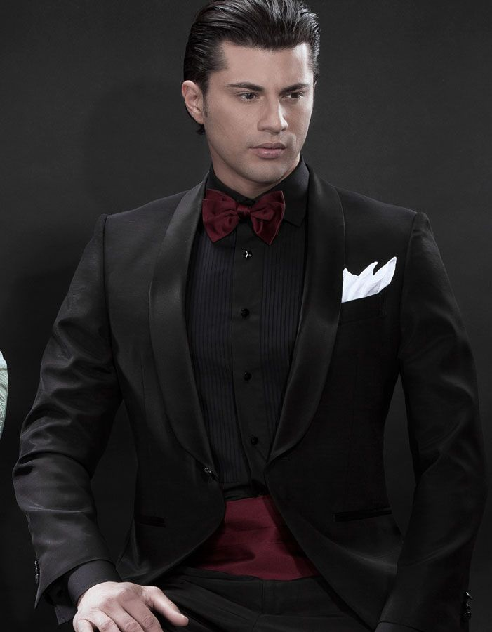All black tux black shirt maroon tie yahoo image search for Black tuxedo shirt for men