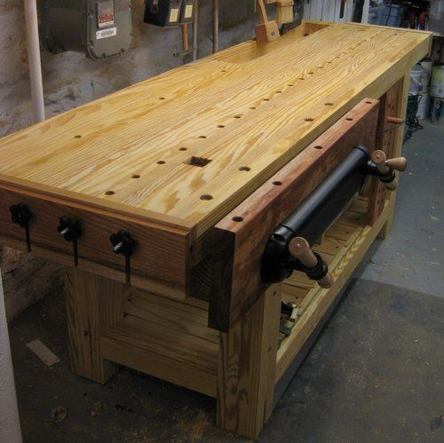 Roubo Holtzapffel Hybrid Bench With Tool Tray End Vise