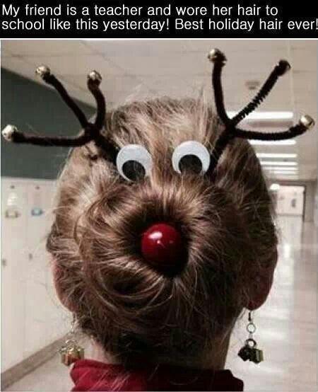 Hair bun Rudolph