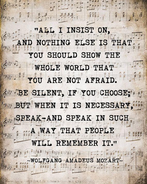 Wolfgang Amadeus Mozart Quote Art Print Music Quote Art Print
