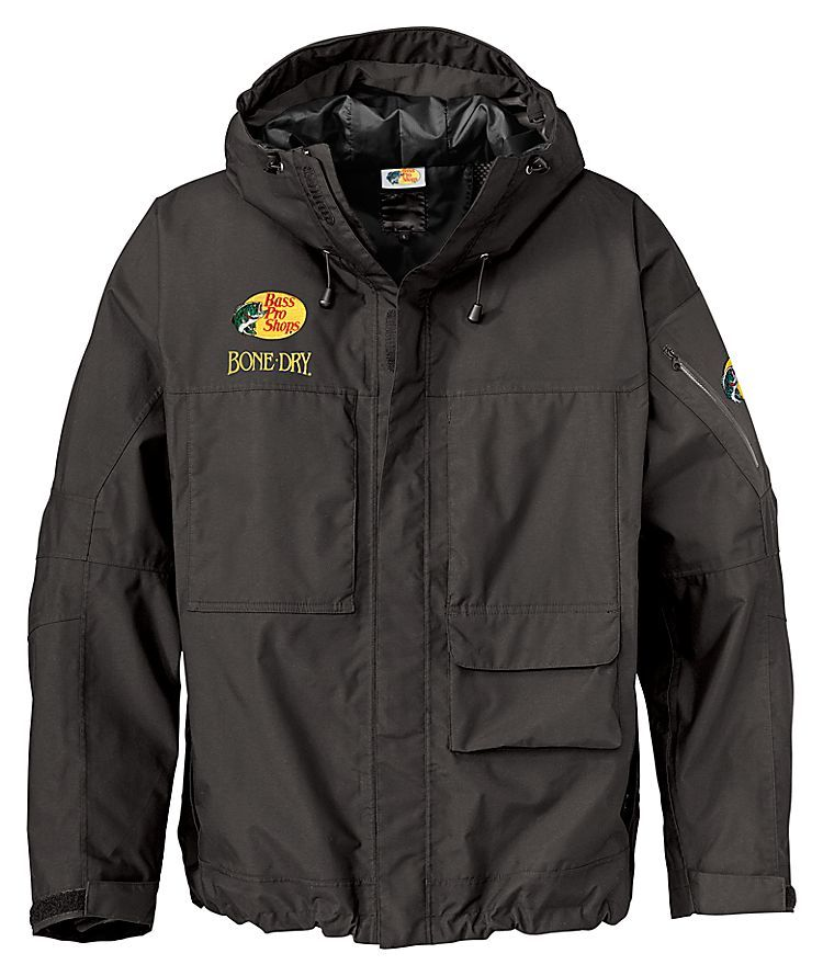 Bass pro shops hpr high performance rainwear bone dry for Mens fishing rain gear
