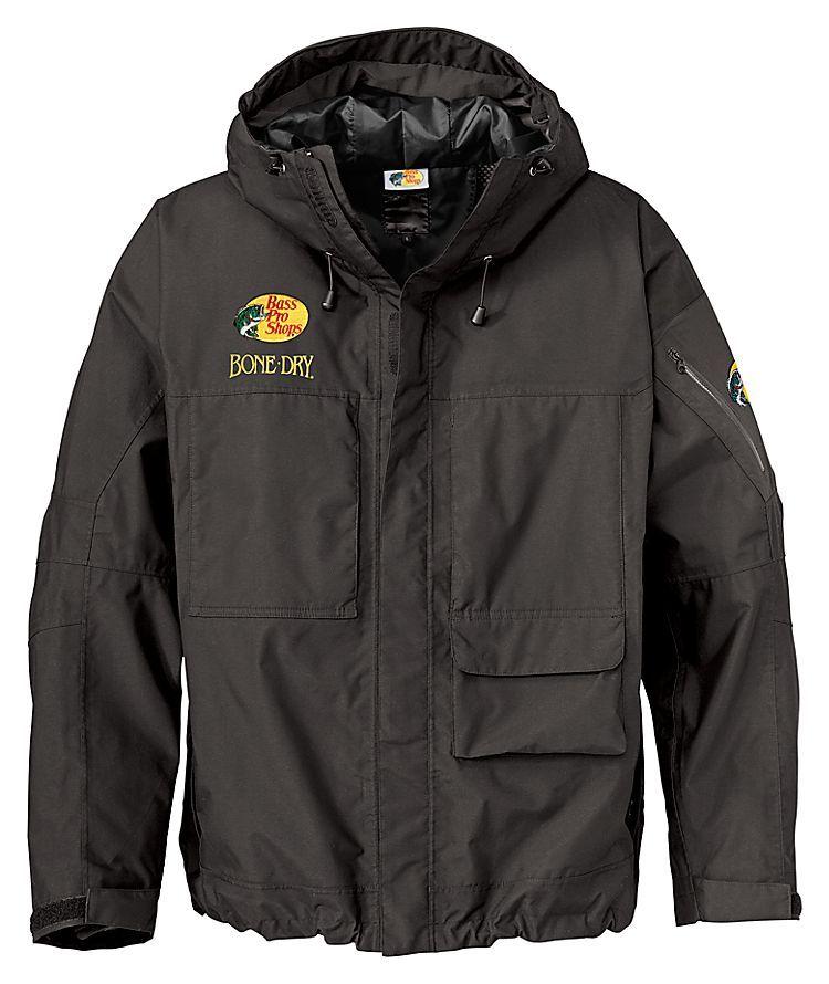 92eae76755fe Bass Pro Shops HPR (High Performance Rainwear) BONE-DRY Waterproof Rain  Jacket for Men