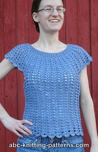 Scalloped Summer Top Pattern By Elaine Phillips Crochet Patterns