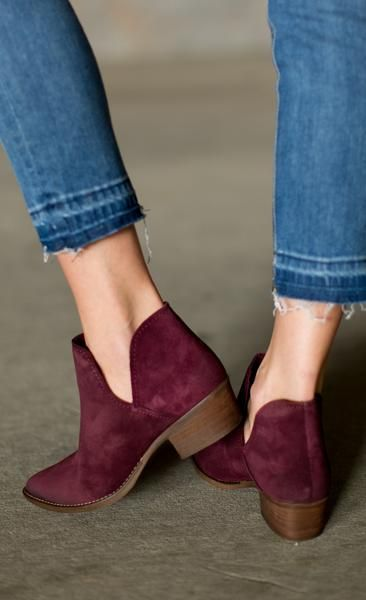12297dab0cd Steve Madden Austin Bootie - Burgundy | Walk This Way | Shoes ...