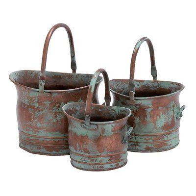 Quintanilla 3-Piece Iron Pot Planter Set