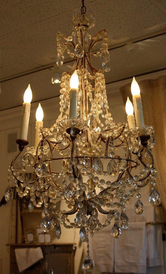 Antique Italian chandelier - Antique Italian Chandelier C H A N D E L I E R S Pinterest