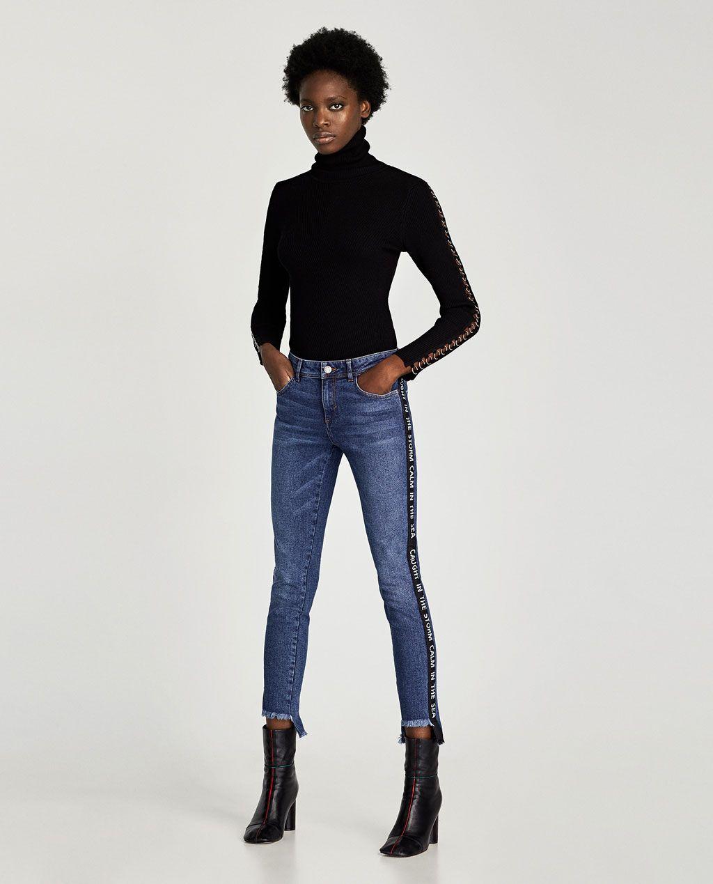 Di Abbigliamento Scritta 1 Immagine Zara Jeans Nastro 5OfvUTw