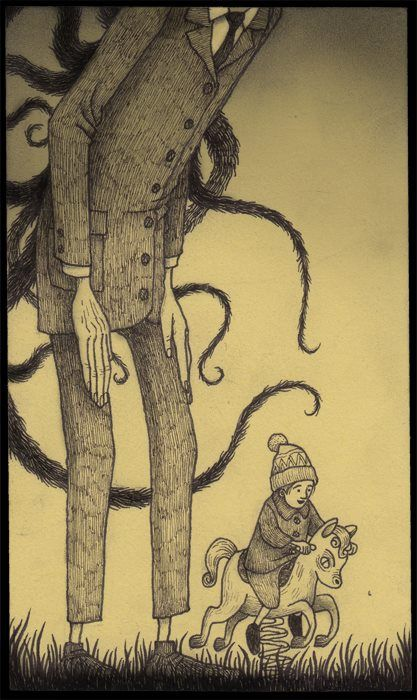 John Kenn Mortensen It Reminds Me Of Slenderman Drawing Ideas