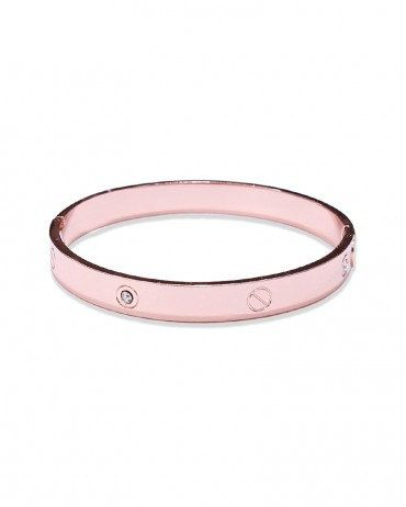 Cartier Inspired Bangle stackable Rose Gold Plate Metal CUFF BRACELET. $45.00, via Etsy.