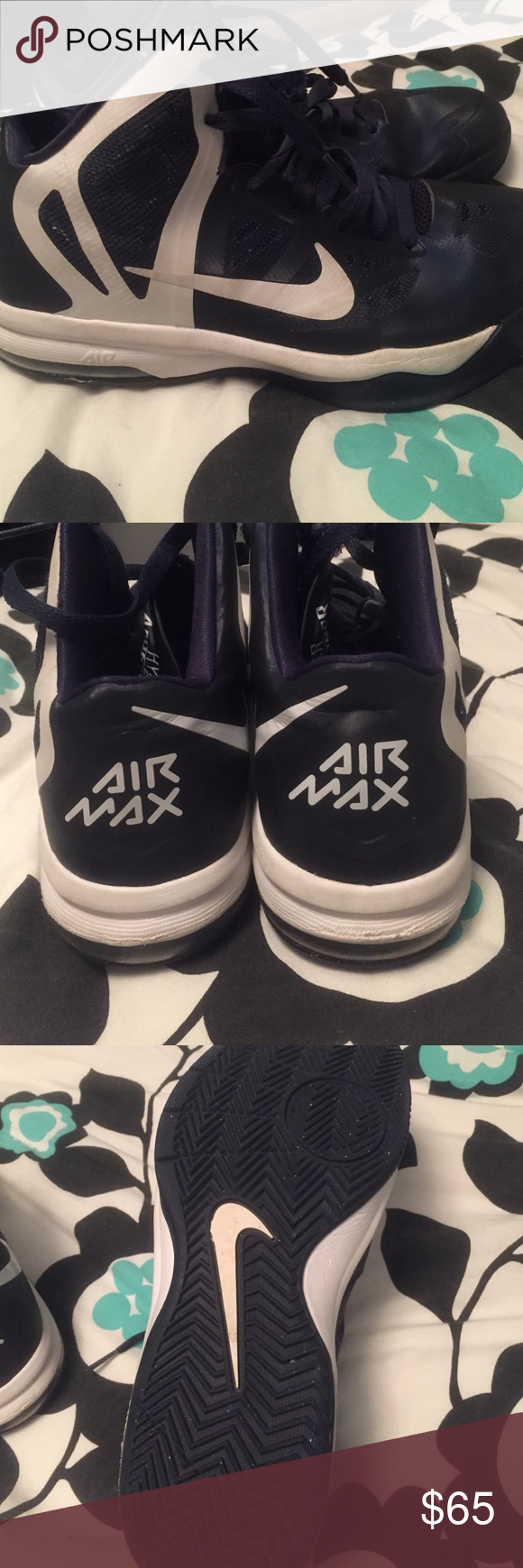 Basketball shoes Nike Air Max basketball shoes. Only worn one season and ready for some more! Nike Shoes Athletic Shoes