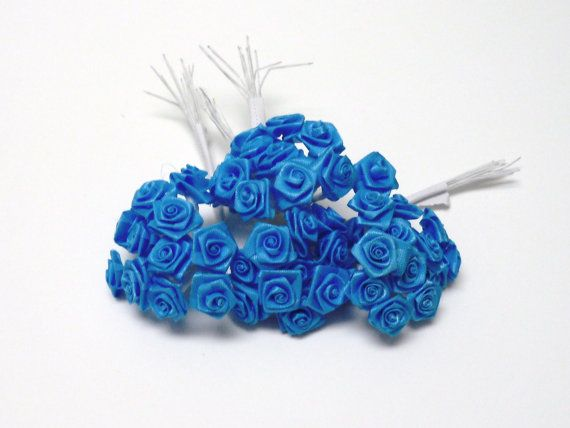 Artificial Flowers  144 Tiny LittleTurquoise by BlissfulSilks