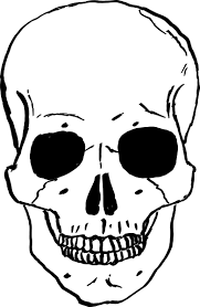 skeleton Coloring page - Google Search | Skull stencil ...