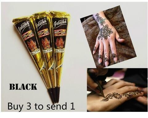 Fashion Hot Sale Tattoo Machine Henna Black Jet Natural Plant Henna