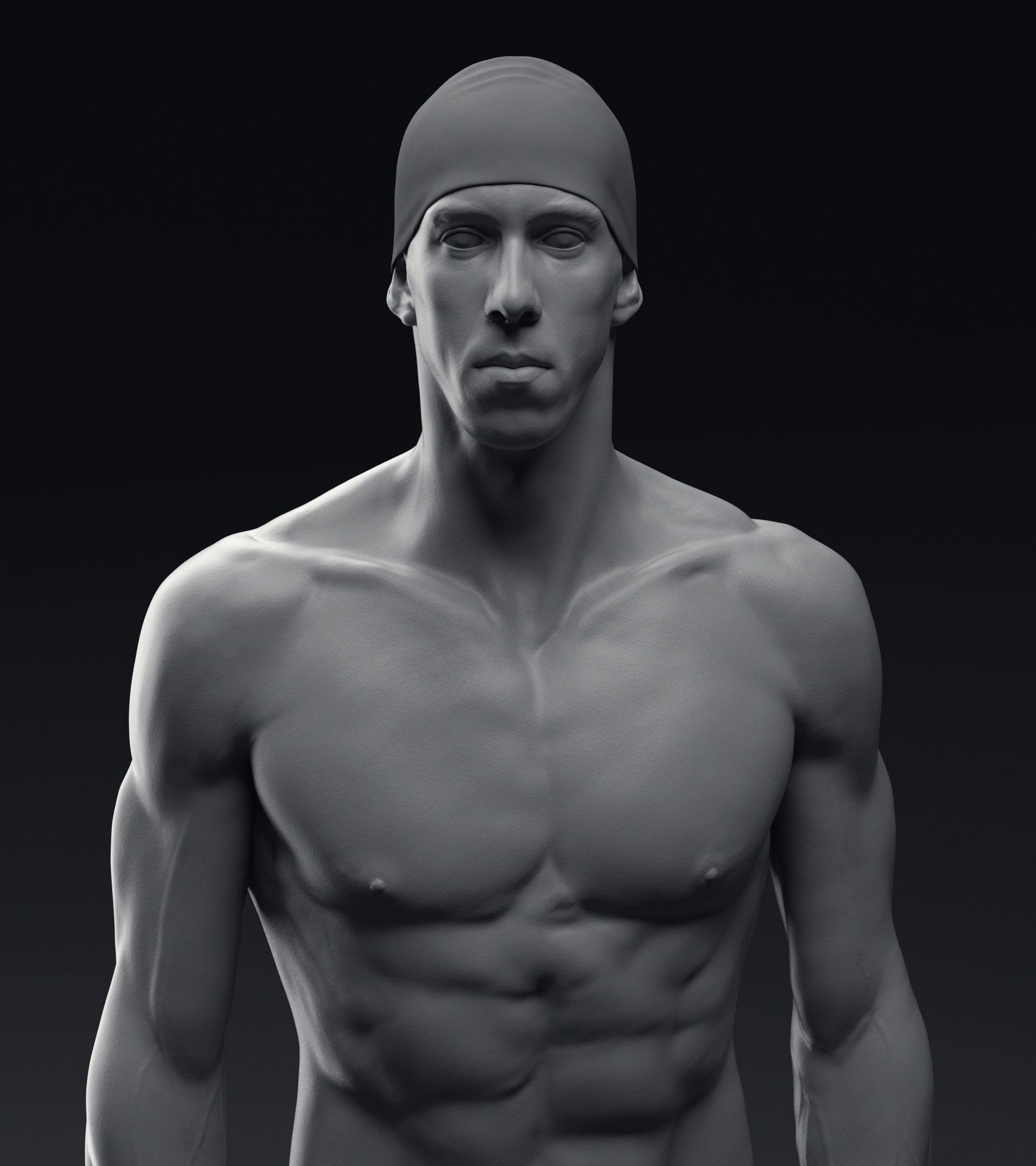 Artstation Michael Phelps Anatomy Study Jakub Chechelski