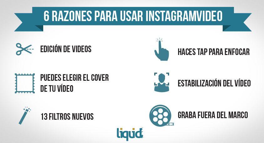 Infografía con 6 razones para usar Instagramvideo.