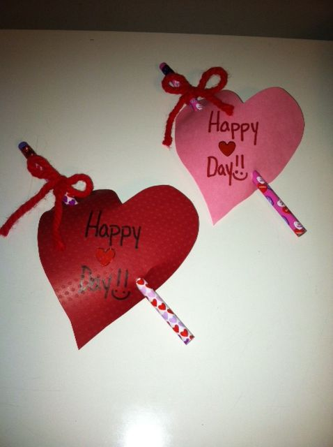 V-day  Gifts for students 1st grade (in future, kids can do as a project in class for family).