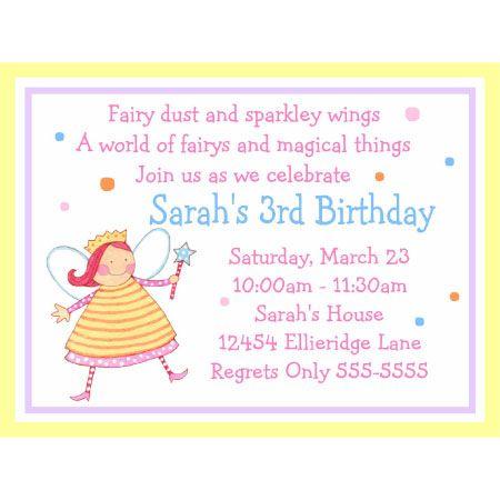 Fairy princess birthday invitations rainbow fairy party ideas fairy princess birthday invitations filmwisefo