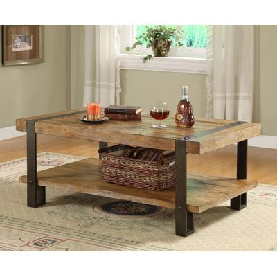 Riverside Furniture Sierra Rectangular Cocktail Table in Distressed Landmark Worn Oak