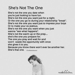 She's Not The One - The Minds Journal
